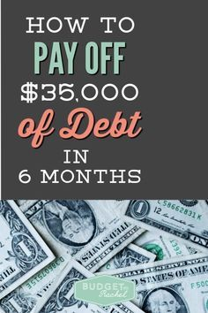 5 Simple tips to pay off debt in 6 months! This couple was able to pay off $35,000 by making some changes to their lifestyle. Check out how they did it! Ways To Save Money, Money Tips, Money Saving Tips, Money Hacks, Financial Peace, Financial Tips, Financial Planning, Financial Assistance, Retirement Planning