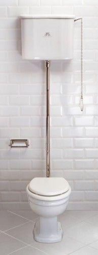Lefroy Brooks La Chapelle hooghang toilet combinatie met pot, reservoir, flush pipe, steunen.