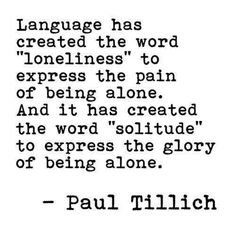 paul tillich quote loneliness solitude