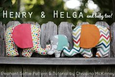 Free pattern and tutorial for an excellent elephant family