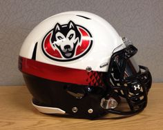 Check out the St. Cloud State University Huskies helmet we put together in our office. Look great, play great!