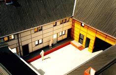 Ontwerp restauratie en verbouwing tot 9 woningen van monumentale vakwerkboerderij te Sittard in opdracht voor Bouwvereniging Sittard 1982-1984  Model 1:50