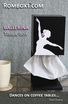 Elegant… The Ballerina is a functional sculpture that changes every time a tissue is dispensed - and even when a breeze passes by. She is poised to be an artful addition to your décor or for the aspir