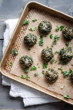 Baked Parmesan Kale Puffs