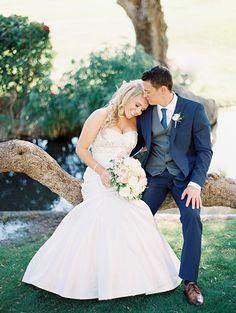 Garden-Inspired Arizona Wedding, Bride and Groom Portraits | Brides.com