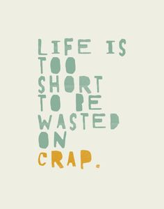 Life is too short Quote Eton blue / orange by joykeeper on Etsy