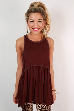 Fashion Queen Tank Top in Maroon - Ladys Marron Football Outfits, Warm Weather Outfits, Cute Fall Outfits, Boutique Clothing, Women's Clothing, Dress To Impress, Autumn Winter Fashion, Just In Case, Tank Tops