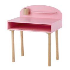 Child's pink wooden desk L 70 cm - Nuage