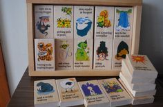 wood STORY block PUZZLE. Rhyme and Reason by thevintageholicfrog, $30.00