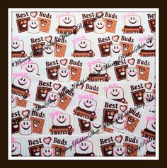 New 3 Yards 7/8 Sweet Chocolate BEST BUDS by WhimsyRibbonShop, $4.95