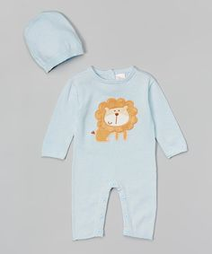 Look at this #zulilyfind! Tots Fifth Avenue Blue Lion Romper & Beanie - Infant by Tots Fifth Avenue #zulilyfinds