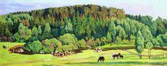 Jour d été, huile sur toile de Konstantin Yuon (1875-1958, Russia)