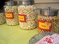 Great idea! Gourmet Popcorn Movie Night Bar by Kathy Beymer for MerrimentDesign.com