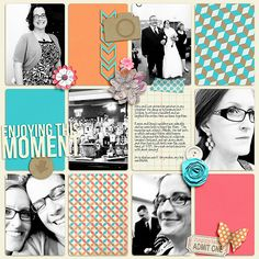 Enjoying the Moment - digital scrapbook layout using It's a Good Day by Amanda Yi Designs and Just Because Studio