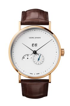Oh My, This is one of the most beautiful watches i have ever seen. The Georg Jensen Koppel Grande Date Annual Calendar Best Watches For Men, Luxury Watches For Men, Cool Watches, Wrist Watches, Elegant Watches, Beautiful Watches, Casual Watches, Mechanical Watch, Fashion Watches