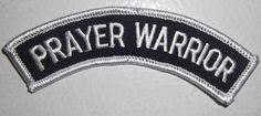 PRAYER WARRIOR CHRISTIAN PATCH - MOTORCYCLE VEST PATCH