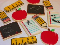 Back to school hand decorated cookies.