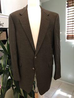 Hickey Freeman Brown Sport Coat - Men's Jacket by StatelyVintageShop on Etsy https://www.etsy.com/listing/533484424/hickey-freeman-brown-sport-coat-mens