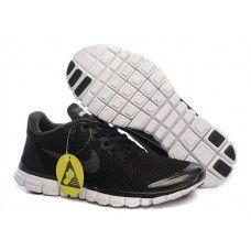 Ekte Nike Free 3.0 V2 Homme Joggesko Alle Svart Hvit billig{EOHtwz}