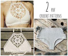 PDF-files for 2 Crochet PATTERNS: Venus crop Top von CapitanaUncino
