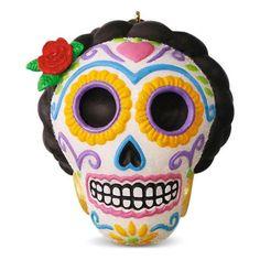 Día de Los Muertos Halloween Sugar Skull Ornament