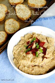 Roasted Cauliflower Garlic and White Bean Dip