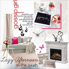 Lazy Afternoon on the Couch by szaboesz on Polyvore featuring interior, interiors, interior design, home, home decor, interior decorating, Diamantini & Domeniconi, Dimplex and Baccarat