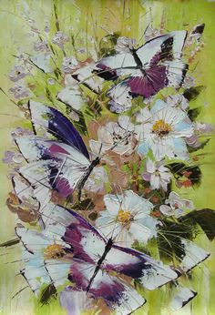 Hand Painted Floral Oil Painting Art on Canvas Reproduction - Free Shipping #02019 - $45.90 - Rock Wall Art - Buy Popular Hand Painted Oil Painting Artworks from Place of Origin , Save More
