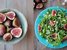 Arugula, Fig & Blue Cheese Salad Just the figs and arugula with lemon and olive oil is also great.