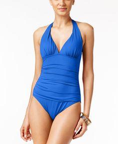 Lauren Ralph Lauren Tummy-Control Halter One-Piece Swimsuit