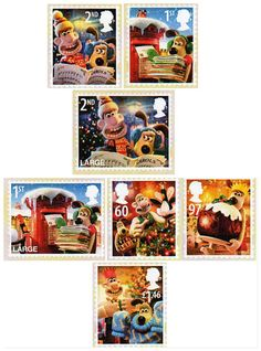 Wallace and Gromit on Royal Mail's stamps