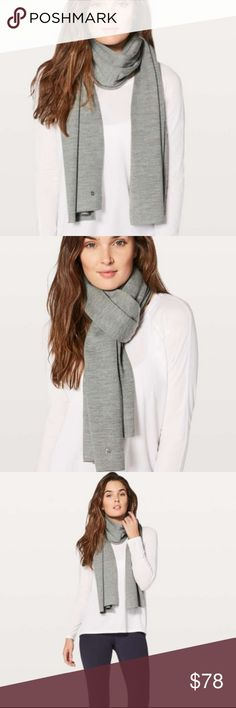 NWT lululemon Cozy Up Scarf lululemon Cozy Up Scarf  Sweat-wicking Merino Wool is soft, naturally insulating and will help regulate your temperature lululemon athletica Accessories Scarves & Wraps