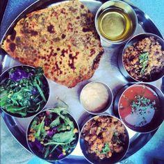 Pondicherie, Houston: super delish indian food: Yogi Thali (no meat, no dairy)