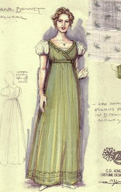 Pride and Prejudice (Jane Bennet). Costume design by Mathew J. LeFebvre.