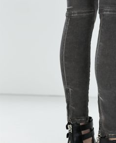 Image 6 of SKINNY JEANS WITH KNEE PADS from Zara