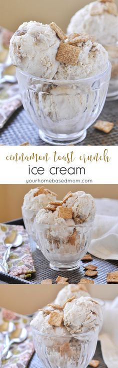 Cinnamon Toast Crunch Ice cream - a fun way to eat your cereal and milk!