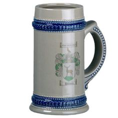 Bowen Coat of Arms Stein / Bowen Family Crest Coffee Mugs #coat #of #arms #coat of arms #coatofarms #stein #steins #family #crest #crests #german #beer #heraldry #genealogy #clan