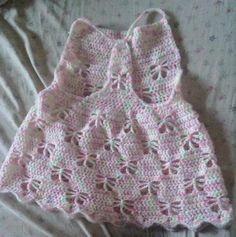 20 Inspiring Crochet Patterns to Practice Butterfly Stitch: Girls' Butterfly Dress Crochet Pattern