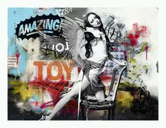 Ben Allen - adore his style, the collage mash up is something I love to do as well