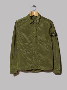 Stone Island Nylon Metal Overshirt (Verde Oliva) Stone Island, Military Jacket, Metal, Casual, Jackets, Collection, Fashion, Olive Green, Stone Island Outlet