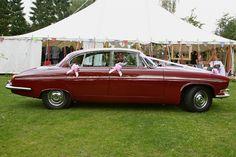 Jaguar 420G wedding car at Stydd Gardens; Lancashire Classic Jaguar Hire Ltd