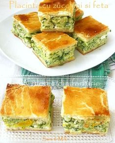 zucchini and feta pie Avocado Salad Recipes, Yogurt Recipes, Festive Bread, Healthy Cooking, Cooking Recipes, Good Food, Yummy Food, Romanian Food, Romanian Recipes