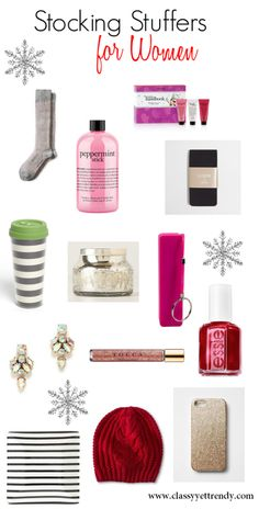 Stocking Stuffers for Women - Where to find all the stocking stuffers that every woman wants in her stocking this year! Classy Yet Trendy