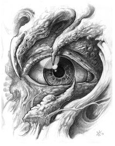 bio mechanical eye sketches by frankenshultz - rcz Biomech Tattoo, Biomechanical Tattoo Design, Demon Tattoo, Skull Tattoo Design, Skull Tattoos, Body Art Tattoos, Hand Tattoos, Sleeve Tattoos, Tattoo Designs