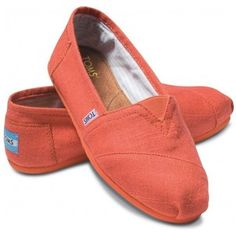 TOMS Linen Classic Orange Tharp (Women) 9