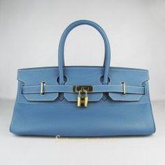 Sacs Hermès Pas Cher Birkin 42cm Togo Cuir Sac Clair Bleu 62642 €249.00