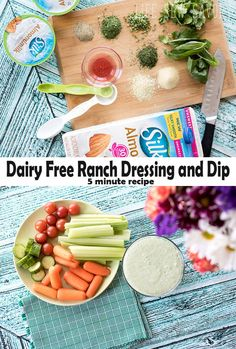Dairy Free Ranch Dressing and Dip from-Life-Sew-Savory-#ProgressIsPerfection #CBias AD @walmart @lovemysilk