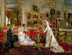 "Olga Tuleninova sur Twitter : ""Alfred Stevens (belge,1823-1906) - Le Salon du Peintre 1880 huile sur toile  collection privée https://t.co/NnWFjaBeI5"""