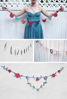 Illustrated paper garlands party decoration diy crafts crafty party ideas diy party parties paper garlands
