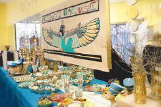Cleopatra + Egyptian themed birthday party via Kara's Party Ideas KarasPartyIdeas.com #egyptianparty (4)